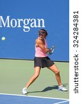 Small photo of NEW YORK - SEPTEMBER 7, 2015: Junior tennis player Alexa Graham of United States during match at the Billie Jean King National Tennis Center in New York
