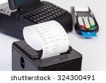 credit card processor  receipt... | Shutterstock . vector #324300491