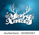 christmas holidays vector design | Shutterstock .eps vector #324301067