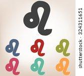 zodiac sign leo. vector zodiac... | Shutterstock .eps vector #324311651