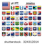 flags of america icon set.... | Shutterstock .eps vector #324312014