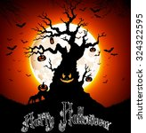 halloween background on the... | Shutterstock .eps vector #324322595