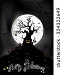 halloween background on the...   Shutterstock . vector #324322649