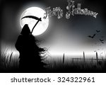 halloween background    a man...
