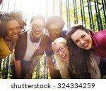 friends friendship walking park ... | Shutterstock . vector #324334259