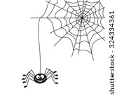 spider on the web. | Shutterstock .eps vector #324334361