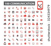 100 communication icons | Shutterstock .eps vector #324334979