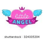 little angel illustration  cute ... | Shutterstock .eps vector #324335204