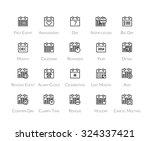 outline icons thin flat design  ... | Shutterstock .eps vector #324337421