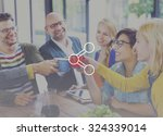 share connection technology... | Shutterstock . vector #324339014