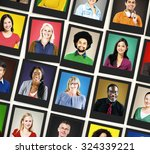 people diversity faces human... | Shutterstock . vector #324339221