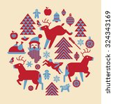 christmas composition in a... | Shutterstock .eps vector #324343169