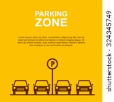 parking zone yellow background... | Shutterstock .eps vector #324345749