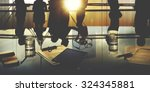 business people meeting... | Shutterstock . vector #324345881