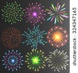 festive colorful bright... | Shutterstock .eps vector #324347165