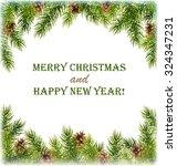green christmas tree pine... | Shutterstock .eps vector #324347231
