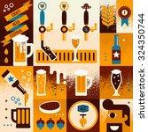 illustration of beer concept... | Shutterstock .eps vector #324350744