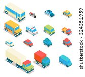 isometric city transport and... | Shutterstock .eps vector #324351959