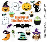 halloween elements set. vector... | Shutterstock .eps vector #324360449