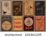halloween cards baners design... | Shutterstock .eps vector #324361109