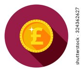 gold coin pound. vector... | Shutterstock .eps vector #324362627