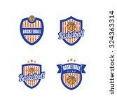 vector logo for a basketball...   Shutterstock .eps vector #324363314