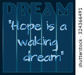 """motivational quote """"hope is a... 