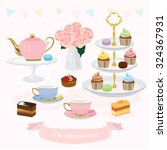 afternoon tea vector design... | Shutterstock .eps vector #324367931
