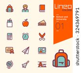 lineo colors   school and... | Shutterstock .eps vector #324369791