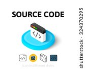 source code icon  vector symbol ...