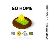 go home icon  vector symbol in...