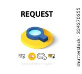 request icon  vector symbol in...