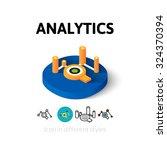 analytics icon  vector symbol...
