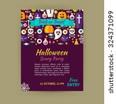 halloween holiday template... | Shutterstock .eps vector #324371099