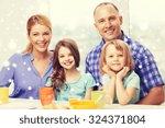 food  family  children ... | Shutterstock . vector #324371804