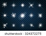 shine stars with glitters and... | Shutterstock .eps vector #324372275