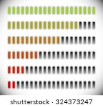 color coded progress  level...
