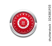 24 hours service red vector... | Shutterstock .eps vector #324381935