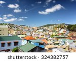 many beautiful colorful houses... | Shutterstock . vector #324382757