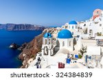 white blue architecture and... | Shutterstock . vector #324384839