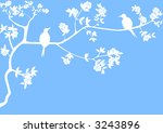 illustrated cherry tree with...