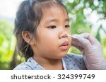 apply some remedy to the wound... | Shutterstock . vector #324399749