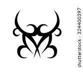 tribal tattoo vector design... | Shutterstock .eps vector #324400397
