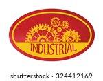industry gear stamp design...
