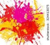 colored blot on white... | Shutterstock .eps vector #324413075
