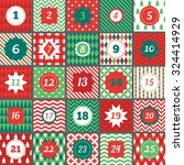 christmas advent calendar with... | Shutterstock .eps vector #324414929