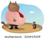 big fat and haughty cat boss is ... | Shutterstock .eps vector #324415439