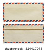 Old Envelope Isolated On White...