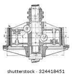friction clutch cut along the... | Shutterstock .eps vector #324418451