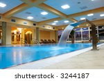 relaxation area with swimming... | Shutterstock . vector #3244187